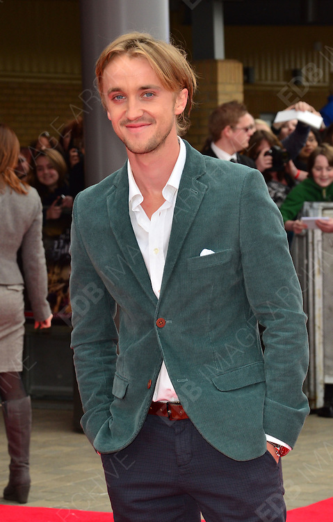 31.MARCH.2012. HERTFORSHIRE<br /> <br /> TOM FELTON ATTENDS THE GRAND OPENING OF THE WARNER BROS. STUDIO TOUR IN LONDON: THE MAKING OF HARRY POTTER IN WATFORD, HERTFORDSHIRE.<br /> <br /> BYLINE: EDBIMAGEARCHIVE.COM<br /> <br /> *THIS IMAGE IS STRICTLY FOR UK NEWSPAPERS AND MAGAZINES ONLY*<br /> *FOR WORLD WIDE SALES AND WEB USE PLEASE CONTACT EDBIMAGEARCHIVE - 0208 954 5968*