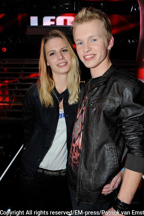 Uitslag Finale The Voice of Holland 2012.<br /> <br /> Op de foto:  Johannes Rypma met zijn vriendin