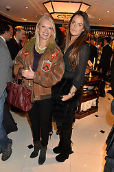 Left to right, ANNEKA RICE and MOLLY MILLER-MUNDY at a party to celebrate the publication of 'A Designer's Life' by Nicky Haslam held at Ralph Lauren, 1 New Bond Street, London on 19th November 2014.