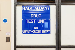 Drug testing area, HMP Albany, UK