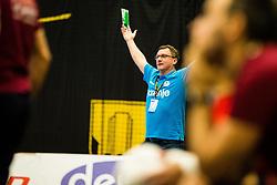 Jovicic Zoran head coach of RK Gorenje Velenje during handball match between RK Gorenje Velenje and Abanca Ademar Leon in Round #32 of EHF Cup 2019/20, 28 February, 2020 in Rdeca Dvorana, Velenje Slovenia. Photo By Grega Valancic / Sportida