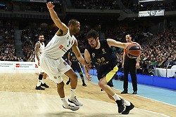 March 2, 2018 - Madrid, Madrid, Spain - Nikola Kalinic (right), #33 of Fenerbahce in action during the 2017/2018 Turkish Airlines EuroLeague Regular Season Round 24 game between Real Madrid and Fenerbahce Dogus Istanbul at WiZink center in Madrid. (Credit Image: © Jorge Sanz/Pacific Press via ZUMA Wire)