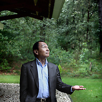 Nederland, Leusden , 14 september 2010.. De Amerikaanse filosoof Francis Fukayama bij de School van Wijsbegeerte..The American philosopher Francis Fukayama at the School of Philosophy.