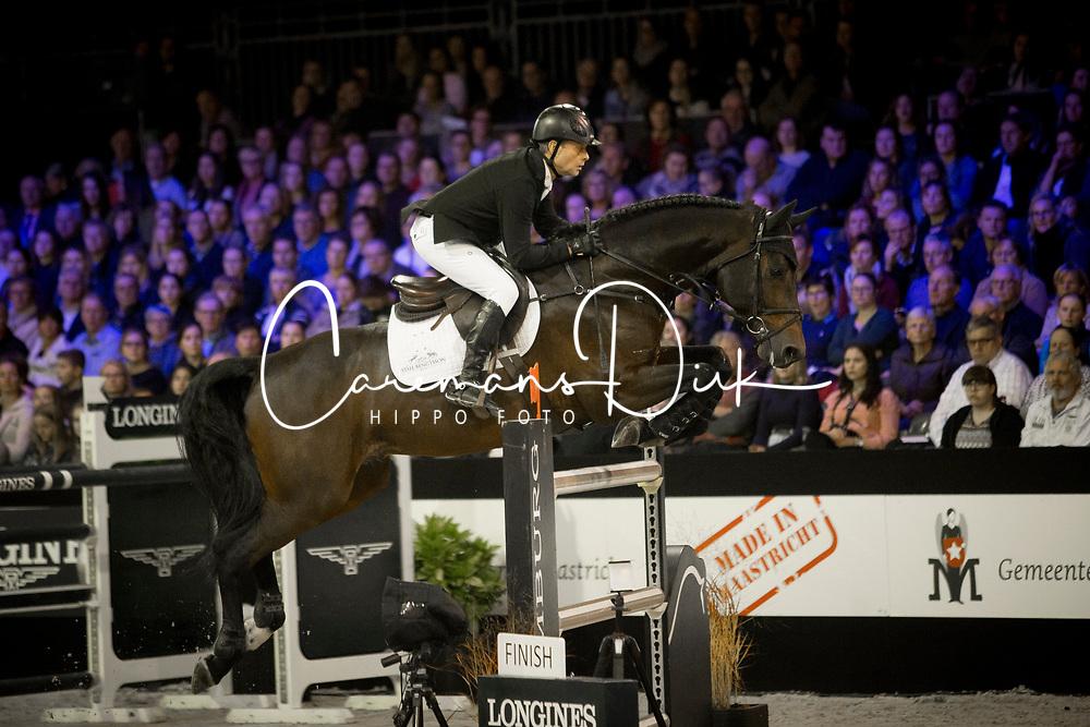Bengtsson Rolf Goran, SWE, Crunch<br /> Jumping Indoor Maastricht 2017<br /> © Hippo Foto - Sharon Vandeput<br /> 12/11/17