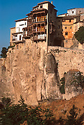 SPAIN, LA MANCHA, CUENCA medieval town famous for 'hanging houses'