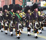 NYPD Irish marching band at a local Saint Patrick's Day Parade.