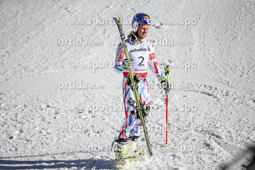 13.02.2015, Birds of Prey Beaver Creek, Beaver Creek, USA, FIS Weltmeisterschaften Ski Alpin, Vail Beaver Creek 2015, Herren, Riesenslalom, Siegerpräsentation, im Bild // reacts after his 2nd run of men's Giant Slalom of FIS Ski World Championships 2015 at the Birds of Prey Beaver Creek in Beaver Creek, United States on 2015/02/13. EXPA Pictures © 2015, PhotoCredit: EXPA/ Johann Groder