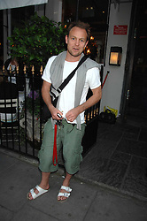 JASON DONOVAN at at the launch party for Imogen Edwards-Jones's new book Beach Babylon held at Beach Blanket Babylon, Ledbury Road, London on 18th July 2007.<br />
