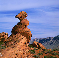 BB02641-01...NEVADA - Sandstone pillar in Valley of Fire State Park.