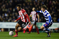 Football - 2019 / 2020 Emirates FA Cup - Fifth Round: Reading vs. Sheffield United<br /> <br /> Sheffield United's Lys Mousset holds off the challenge from Reading's John Swift, at the Madejski Stadium.<br /> <br /> COLORSPORT/ASHLEY WESTERN