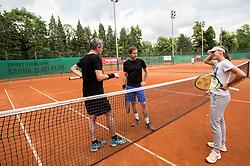 Uros Mesojedec, Tomaz Berlocnik and Kaja Juvan at Petrol VIP tournament 2018, on May 24, 2018 in Sports park Tivoli, Ljubljana, Slovenia. Photo by Vid Ponikvar / Sportida