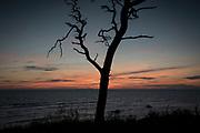Solnedgång i Tofta på Gotland