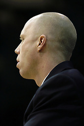 19 March 2010: Coach Brian Morehouse. The Flying Dutch of Hope College defeat the Yellowjackets of the University of Rochester in the semi-final round of the Division 3 Women's Basketball Championship by a score of 86-75 at the Shirk Center at Illinois Wesleyan in Bloomington Illinois.