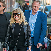 NLD/Amsterdam/20190401 - Opening Burgerroom Gordon, Patricia Paay en links partner Robbert Hinfelaar