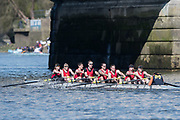 Mortlake/Chiswick, GREATER LONDON. United Kingdom. Bridgnorth Rowing Club. Mx.MasA.8+, competing, 2017 Vesta Veterans Head of the River Race, The Championship Course, Putney to Mortlake on the River Thames.<br /> <br /> <br /> Sunday  26/03/2017<br /> <br /> [Mandatory Credit; Peter SPURRIER/Intersport Images]