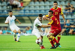 Miha Zajc of Slovenia vs Marko Simic of Montenegro during friendly football match between National Teams of Montenegro and Slovenia, on June 2, 2018 in Stadium Pod goricom, Podgorica, Montenegro. Photo by Vid Ponikvar / Sportida
