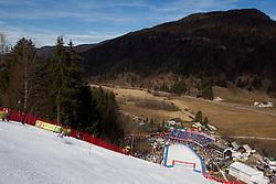 Skier competes during 1st Run of Men's Slalom - Pokal Vitranc 2012 of FIS Alpine Ski World Cup 2011/2012, on March 11, 2012 in Vitranc, Kranjska Gora, Slovenia.  (Photo By Vid Ponikvar / Sportida.com)