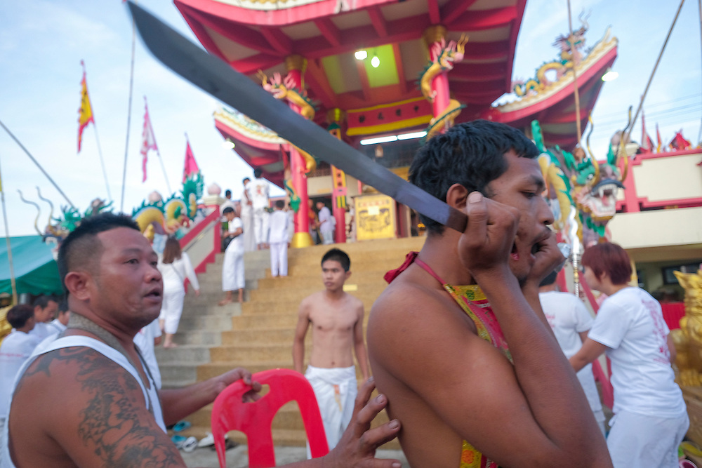 Devotees and others attend the 2015 Vegetarian Festival.
