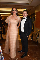 Isabell Kristensen and her son Martin Kristensen at The Asian Awards, The Hilton Park Lane, London England. 5 May 2017.<br /> Photo by Dominic O'Neill/SilverHub 0203 174 1069 sales@silverhubmedia.com