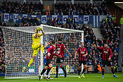 Aaron Ramsdale (GK) (Bournemouth) in action during the Premier League match between Brighton and Hove Albion and Bournemouth at the American Express Community Stadium, Brighton and Hove, England on 28 December 2019.
