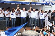 La coalición de partidos de centro derecha UNIDAD presenta a su formula presidencial Sabado OCT 12, 2013 en Santa Ana , El Salvador para competir en los comicios electorales de febrero de 2014. Tony Saca exp residente junto al ex-canciller Alfredo Lainez conforman la formula. Photo: Ludwing Rosales/UNIDAD/Imagenes Libres.