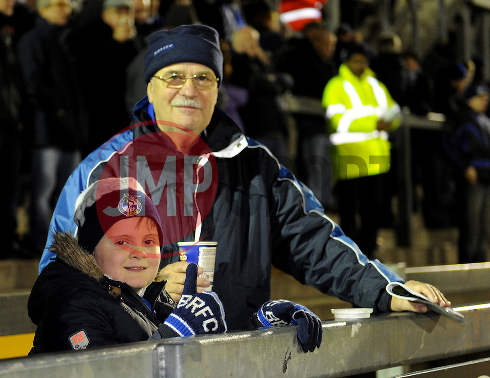 Spectators at the Memorial Stadium for the Vanarama Conference game between Bristol Rovers and Gateshead - Photo mandatory by-line: Paul Knight/JMP - Mobile: 07966 386802 - 19/12/2014 - SPORT - Football - Bristol - The Memorial Stadium - Bristol Rovers v Gateshead - Vanarama Conference