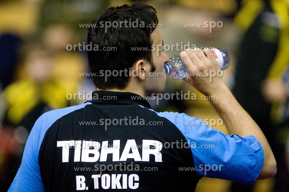 Bojan Tokic of Slovenia during Men 1st Round of 11th International Slovenia Open 2010 table tennis tournament, on January 21, 2010 at Red hall in Velenje, Slovenia. (Photo by Vid Ponikvar / Sportida)