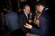 ANDREW MARR AND SABRINA GUINNESS, Pre Bafta dinner hosted by Charles Finch and Chanel. Mark's Club. Charles St. London. 9 February 2008.  *** Local Caption *** -DO NOT ARCHIVE-© Copyright Photograph by Dafydd Jones. 248 Clapham Rd. London SW9 0PZ. Tel 0207 820 0771. www.dafjones.com.
