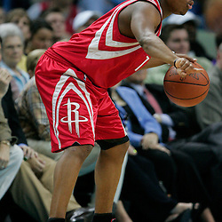 16 March 2009: Houston Rockets guard Kyle Lowry (7) handles the ball during a 95-84 loss by the New Orleans Hornets to the Houston Rockets at the New Orleans Arena in New Orleans, Louisiana.