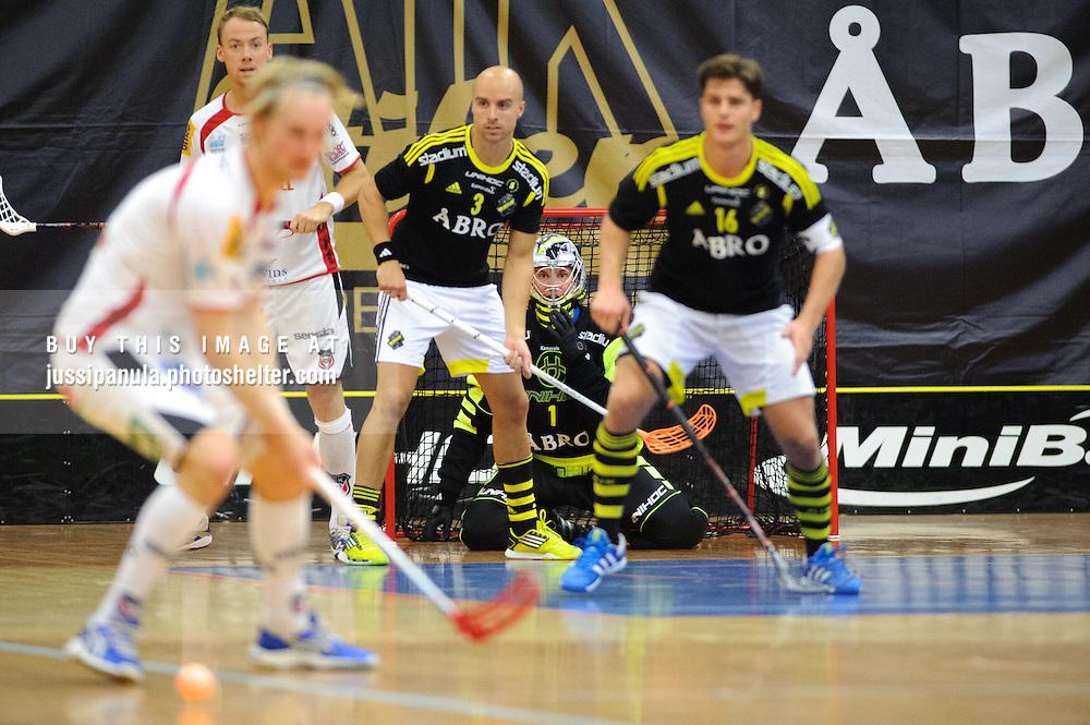 Svenska Superligan SSL Innebandy match: AIK Stockholm vs. Granlo BK, 2012-09-23, Solna Hallen, Solna, Sweden