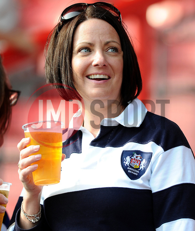 Bristol Rugby fans  - Mandatory byline: Joe Meredith/JMP - 07966386802 - 04/10/2015 - RUGBY - Ashton Gate -Bristol,England - Bristol Rugby v Rotherham Titans - Greene King IPA Championship