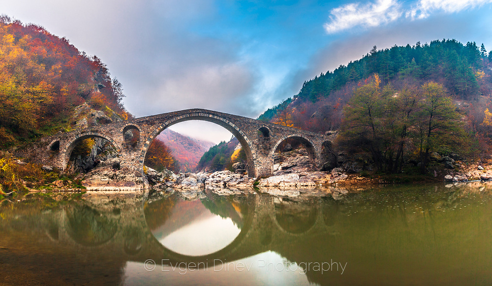 Ancient roman bridge on Arda river in Rhodope mountains