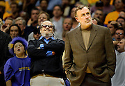 A third quarter Laker comeback amuses actor Jack Nicholson and is less than pleasing for Kings coach Rick Adelman in game four between the Sacramento Kings and the Los Angeles Lakers in the Western Conference Championships Sunday, May 26, 2002 at Staples Center. .....