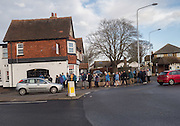 Members of the Eastbourne ramblers club.  Bexhill on Sea. 14 January 2016