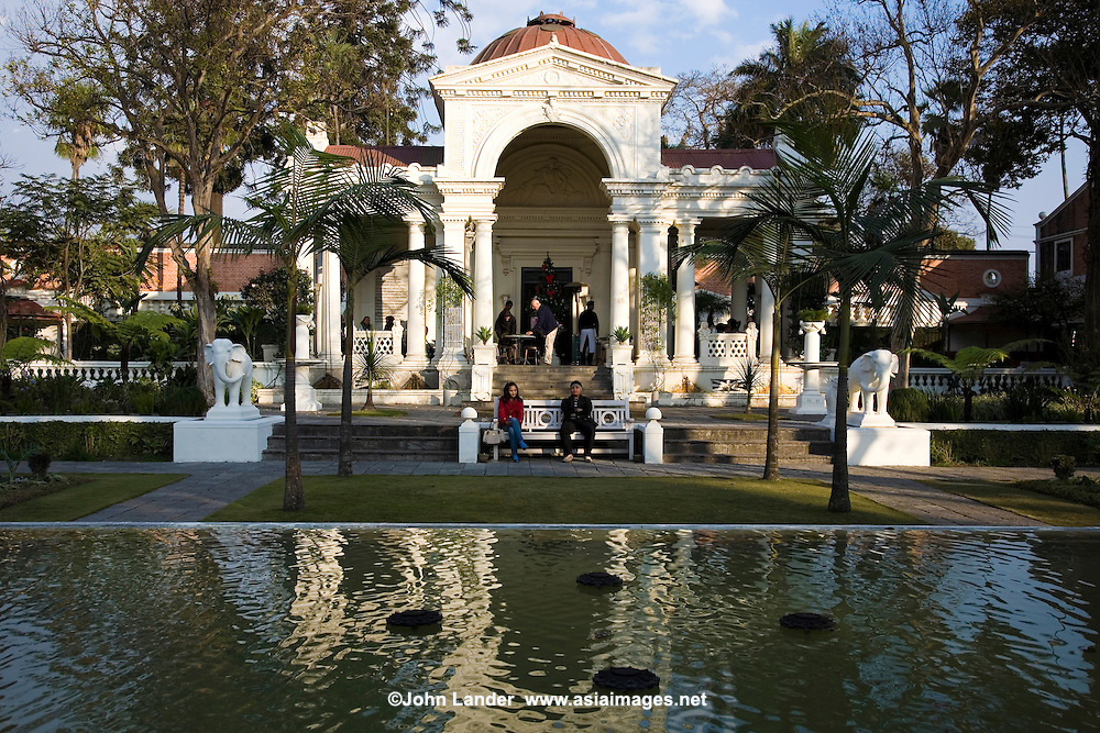 The Garden of Dreams, or Swapna Bagaicha, is one of the most peaceful, green and pleasant retreats in Kathmandu. Kaiser Shamser, a Nepali field marshal, built these gardens in 1920 adjacent to his palace following a tour of several Edwardian estates in England. Recently restored to its former glory, the Garden of Dreams now functions as a public park, with art galleries and a cafe bar to complete the tableau.