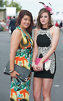 29/07/2014 Aoife Godfrey and Aisling Mannion from Tuam  at the Tuesday evening meeting of the Galway Summer racing Festival. Photo: Andrew Downes