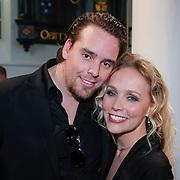 NLD/Loosdrecht/20130305 - Opname EO Mattheus Passion Masterclass 2013, zangeres en voormalig CDA-politica Sabine Uitslag en partner Menno Braakman