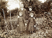 vintage family portrait in garden France