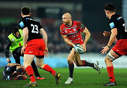 Willi Heinz of Gloucester Rugby looks for a pass - Mandatory by-line: Nizaam Jones/JMP - 22/02/2019 - RUGBY - Kingsholm - Gloucester, England- Gloucester Rugby v Saracens - Gallagher Premiership Rugby