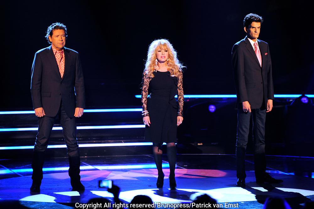 Halve Finale Popstars vanuit Studio 22 in Hilversum Op de foto:<br /> <br /> De Jury: Henkjan Smits, Patricia Paay en Maurice Wijnen
