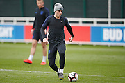 Ben Chilwell (Leicester City)  during the England training session ahead of the UEFA Euro Qualifier against the Czech Repulbic, at St George's Park National Football Centre, Burton-Upon-Trent, United Kingdom on 19 March 2019.