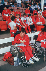 Group of people with disabilities at Special Olympics,