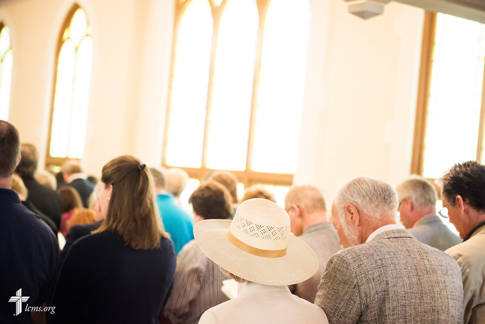 Parishioners worship during a Divine Service of Rededication at St. Paul Lutheran Church in Hamel, Ill., on Sunday, Sept. 7, 2014. LCMS Communications/Erik M. Lunsford