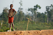 Boy in the village of Podio, Bas-Sassandra region, Cote d'Ivoire on Friday March 2, 2012.
