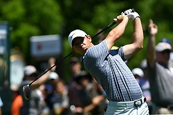 May 2, 2019 - Charlotte, NC, U.S. - CHARLOTTE, NC - MAY 02: Rory McIlroy plays his shot from the first tee in round one of the Wells Fargo Championship on March 02, 2019 at Quail Hollow Club in Charlotte,NC. (Photo by Dannie Walls/Icon Sportswire) (Credit Image: © Dannie Walls/Icon SMI via ZUMA Press)