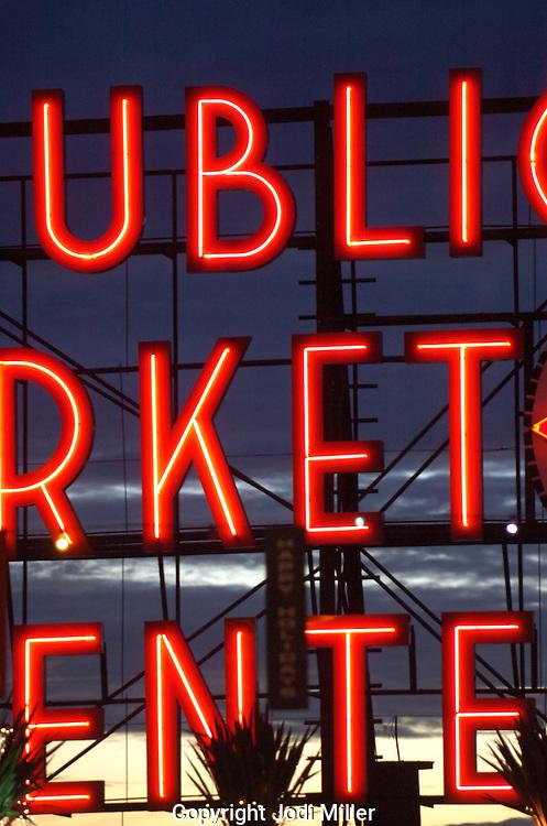 Public Market sign in Seattle.