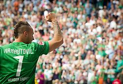 20.08.2011, Weser Stadion, Bremen, GER, 1.FBL, Werder Bremen vs SC Freiburg, im Bild.Jubel Marko Arnautovic (Bremen #7) nach dem 3:2.// during the Match GER, 1.FBL, Werder Bremen vs SC Freiburg on 2011/08/20,  Weser Stadion, Bremen, Germany..EXPA Pictures © 2011, PhotoCredit: EXPA/ nph/  Kokenge       ****** out of GER / CRO  / BEL ******