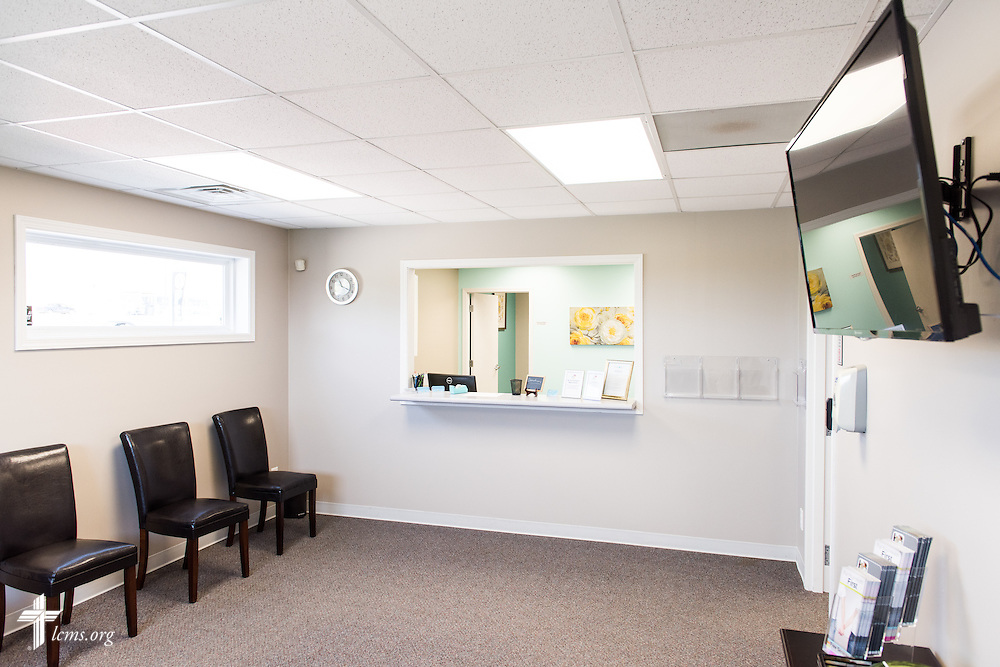 The lobby entrance of the new Iowa Life Care (LC) Clinic on Saturday, Aug. 15, 2015, in Creston, Iowa. The clinic is a former Planned Parenthood facility. LCMS Communications/Erik M. Lunsford