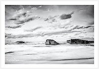 A calming seascape at South West Rocks. These rocks, just off the 'front beach', give this laid-back town its name [South West Rocks, NSW, Australia]<br />