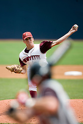 Lafayette Leopards LHP Ted Gjeldum (28) pitches against #23 Rutgers.  The Lafayette Leopards fell to the the Rutgers Scarlet Knights 11-10 in their second game of the NCAA World Series Regional held at Davenport Field in Charlottesville, VA on June 2, 2007.
